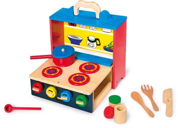 Drewniana przenośna kuchnia dla dzieci small foot design   -> Kuchnia Hiszpanska Dla Dzieci