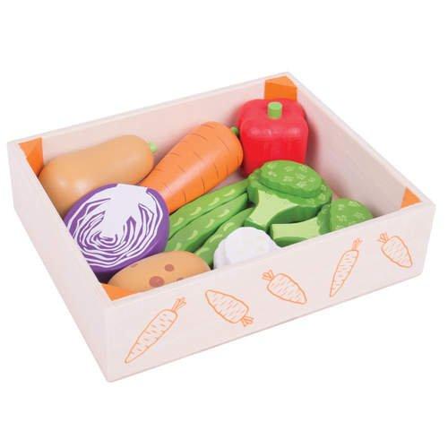 drewniane warzywa do zabawy dla dzieci bigjigs. Black Bedroom Furniture Sets. Home Design Ideas