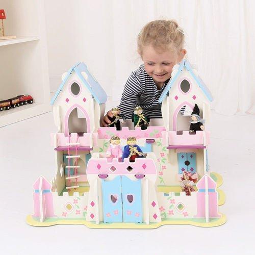 drewniany zamek ksi niczki do zabawy dla dzieci. Black Bedroom Furniture Sets. Home Design Ideas