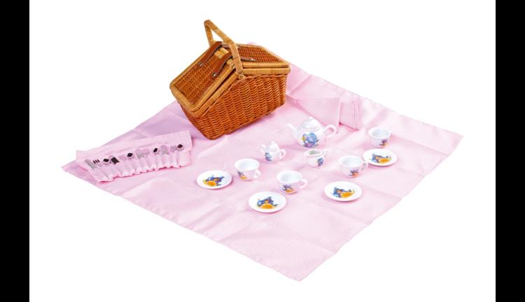 koszyk piknikowy do zabawy dla dzieci niadanie. Black Bedroom Furniture Sets. Home Design Ideas