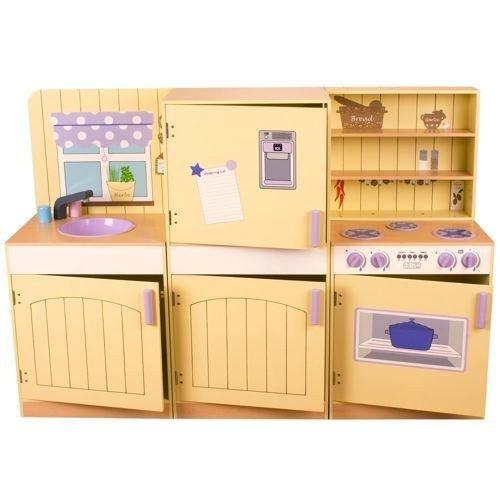 Kuchnia do zabawy dla dzieci w Stylu Rustykalnym Bigjigs   -> Kuchnia Dla Dzieci Na Baterie