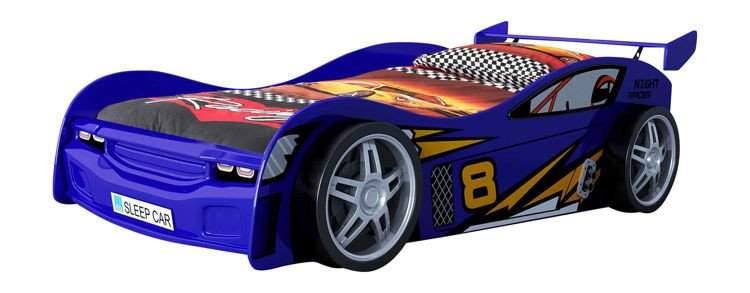 Łóżko AUTO samochód Night Racer Blue,. łóżko dla dziecka ...