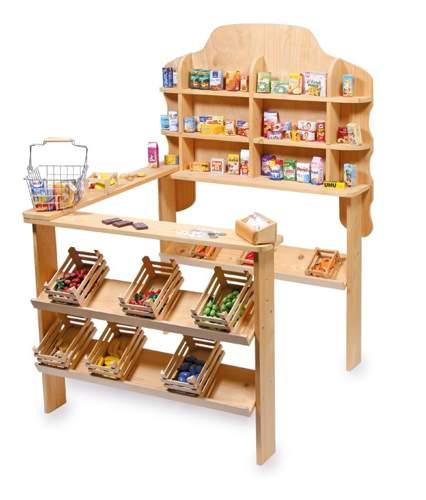 Stragan drewniany sklep do zabawy dla dzieci mega small foot design sklep dla dzieci Home design sklep online