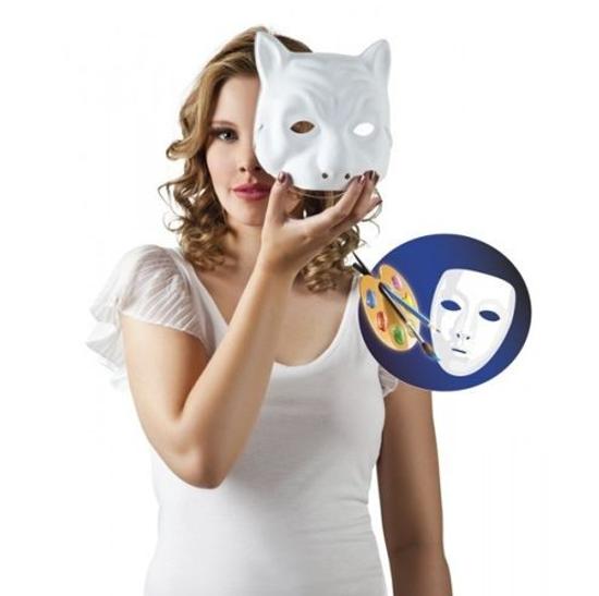 Maska Biała Kot Przebrania Kostiumy Dla Dzieci Aster Sklep Dla