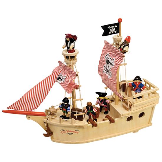 Drewniany Statek Piracki Do Zabawy Dla Dzieci