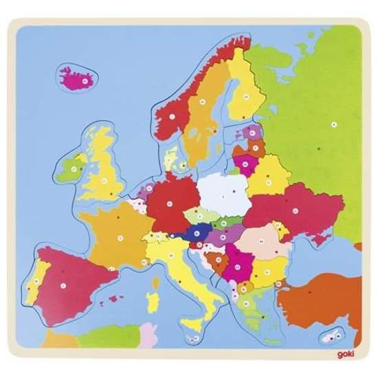 Metoda Montessori Puzzle Dla Dzieci Mapa Konturowa Europy Nauka
