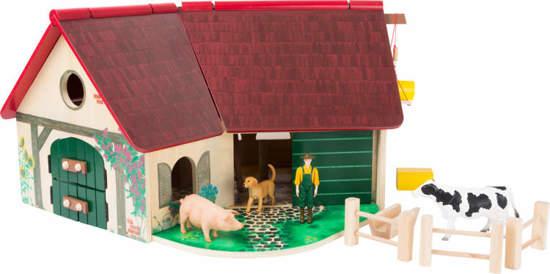 Farma drewniana do zabawy