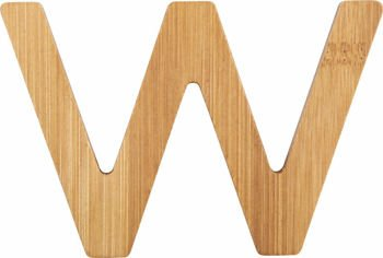 ABC Bamboo Letters W