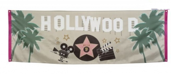 Baner Hollywood party 74 x 220 cm