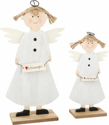 Decorative Wooden Guardian Angel
