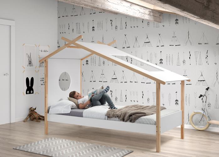 łóżko Drewniane Dla Dziecka Pojedyncze Cocoon Tipi