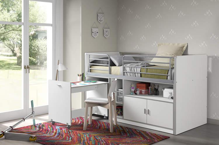 łóżko Piętrowe Dla Dzieci Bonny Bis Wit Z Biurkiem