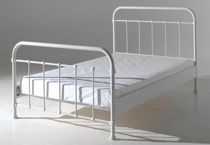 Metalowe łóżko New York Białe Dla Dziecka 212x128 Cm