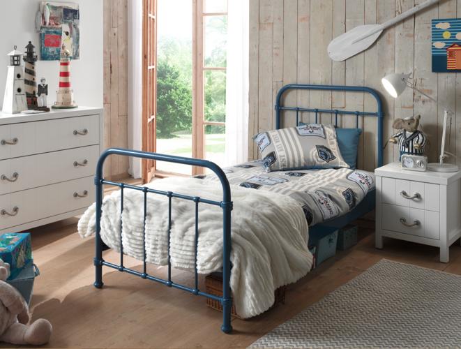 Metalowe łóżko New York Nybe9007 Dla Dziecka 96x212 Cm