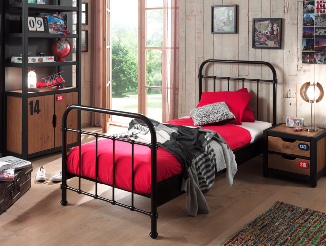 Metalowe łóżko New York Nybe9018 Dla Dziecka 96x212 Cm