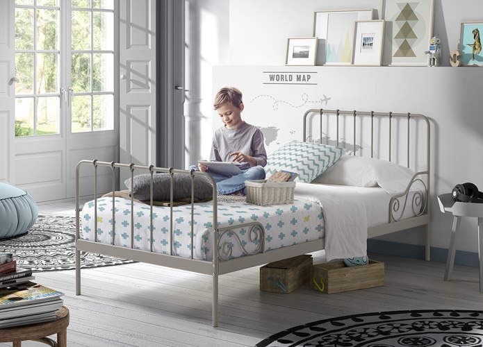 Metalowe łóżko Dla Dziecka Alice Elefantgrey