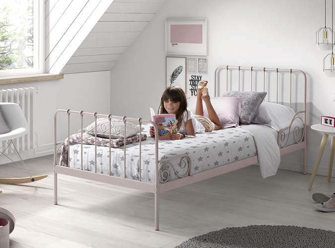Metalowe łóżko Dla Dziecka Alice Old Pink Vipack