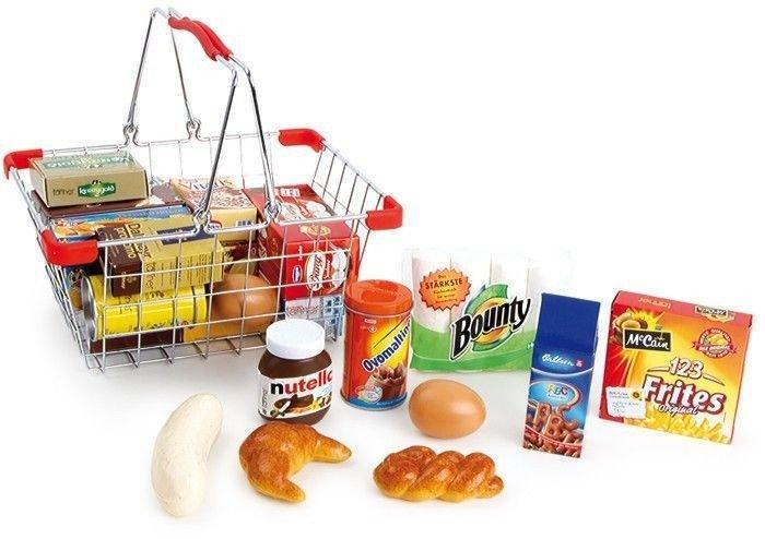 be6b022eca9f3c Metalowy koszyk na zakupy - zabawka dla dzieci do zabawy w sklep