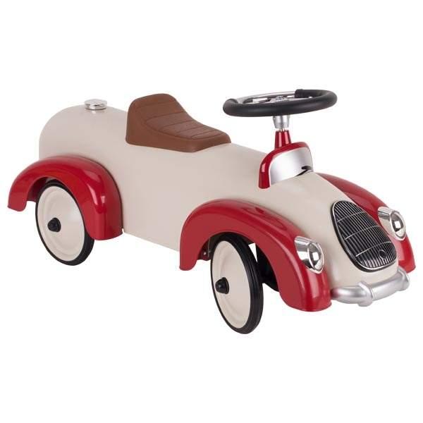 Chłodny Samochodzik Jeździk dla dzieci- Formuła 1 - beż GOKI | sklep dla DR89