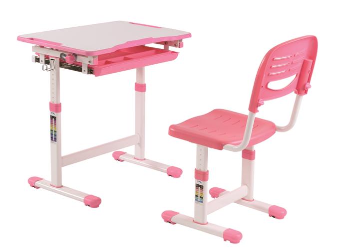 Wspaniały Vipack COMFORTLINE biurko i krzesło dla dziecka - zestaw PINK UU51