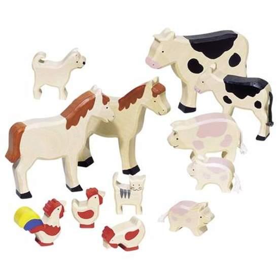 Drewniane Zwierzęta wiejskie, 12 części