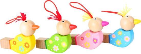 Drewniany gwizdek dla dzieci - ptaszek