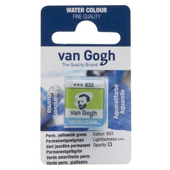 TALENS VAN GOGH WATER COLOUR PAN PERM. YELLOWISH GREEN