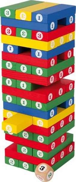 Wieża Jenga z liczbami